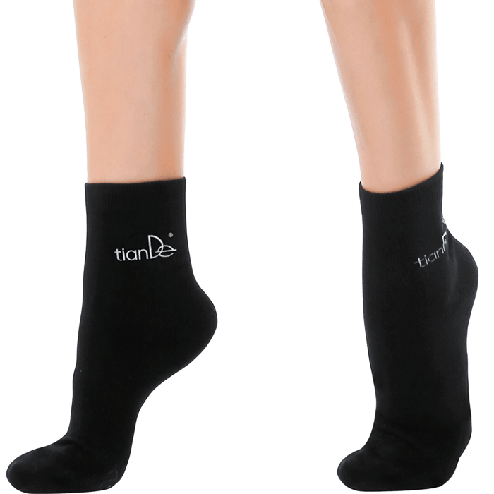 Bavlnené ponožky s bodovou turmalínovou vrstvou
